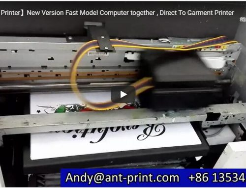 Fast speed 8 color A3 plus AP-A3-8D digital t-shirt printer demo video