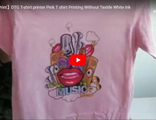 Digital tshirt printing machine inkjet direct for pink cotton tshirt demo video