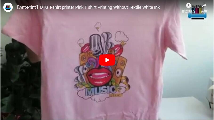 cotton pink tshirt printer
