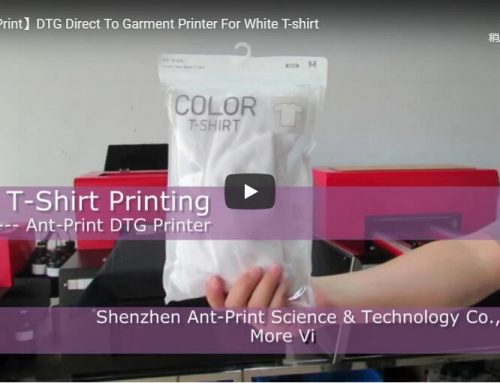 Digital tshirt printing machine inkjet direct for pink