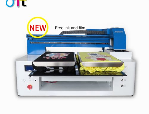 2021 New A2Plus T-shirt dtg Printer Two tshirt platens direct to garment printer machine with double dx9 heads